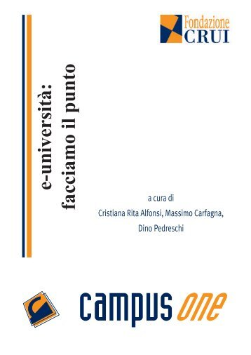 e-università: facciamo il punto - Fondazione CRUI