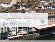 Präsentation der Schweizer Ergebnisse 2012 - Wüest & Partner