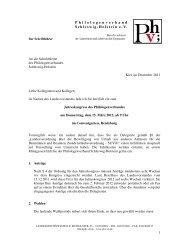 Einladung - Philologenverband Schleswig-Holstein e.V