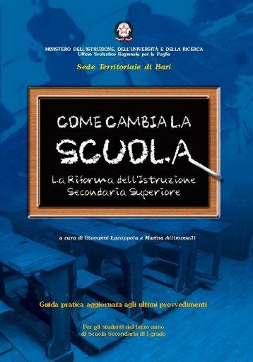 Come Cambia la SCuola - Ufficio Scolastico Provinciale - Bari