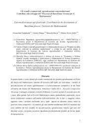 Processo di Barcellona: Unione per i - AgEcon Search