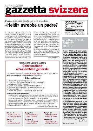 «Heidi» avrebbe un padre? - Gazzetta Svizzera