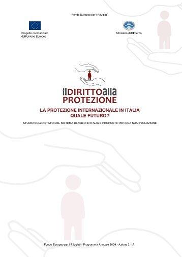 """La ricerca """"Il Diritto alla Protezione"""" - Servizio Centrale"""