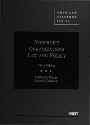 Nonprofit Organizations Law and Policy Third Edition - Libraries ...