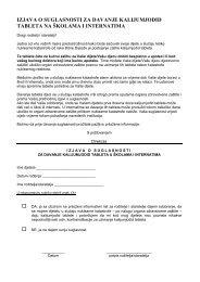 izjava o suglasnosti za davanje kalijumjodid tableta na školama i ...