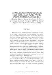 LES MEMÒRIES DE PIERRE COMELLAS (1789-1813), ALAIN ...