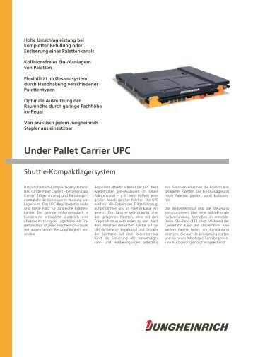 Under Pallet Carrier UPC