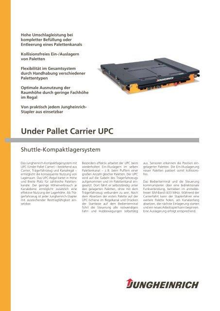 Under Pallet Carrier UPC