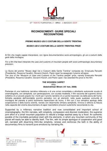 Riconoscimenti Giurie Speciali. - Club Alpino Italiano