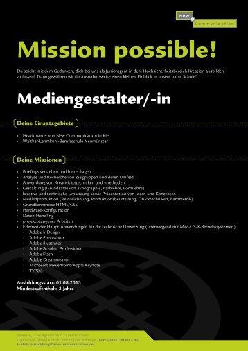 Mediengestalter/in Konzeption und Visualisierung - New ...