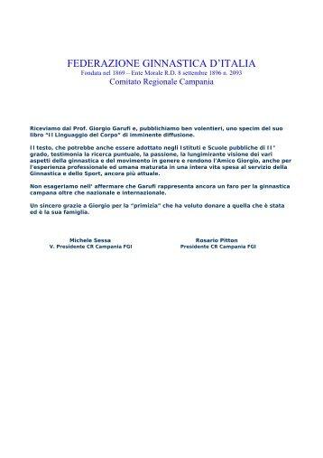 Il Linguaggio del Corpo - Comitato Regionale Campania F.G.I.