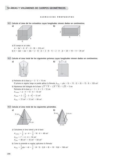 ejercicios sobre volumenes de cuerpos geometricos