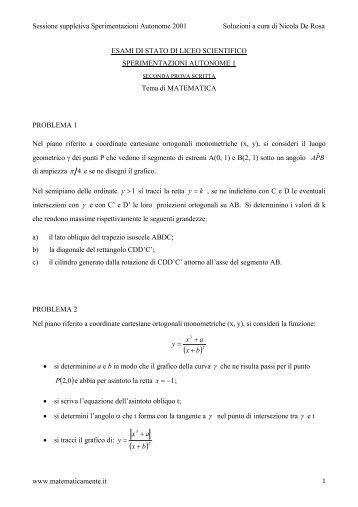 x - Matematicamente.it