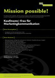 Kaufmann/Kauffrau für Marketingkommunikation - New ...