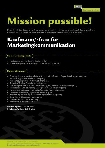 Kaufmann/Kauffrau für Marketingkommunikation - New ...