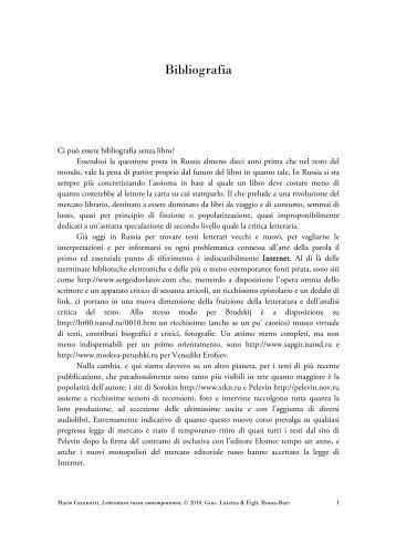 Bibliografia - Editori Laterza