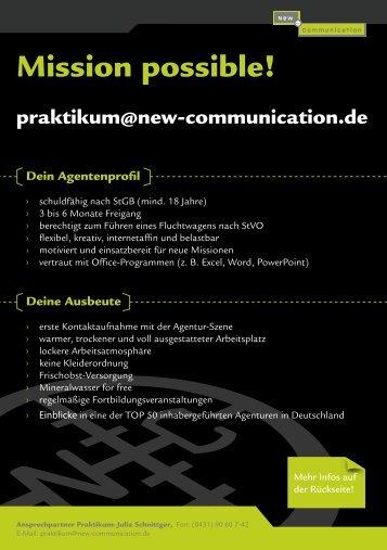 Praktikant - New Communication