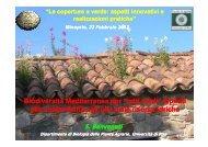"""Biodiversità Mediterranea per """"tetti verdi"""" - Fondazione Minoprio"""