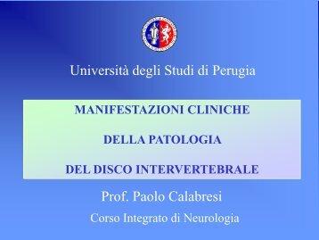 Spondilosi - Facoltà di Medicina e Chirurgia - Università degli Studi ...