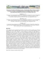 1 realização de batimetrias para análise dos ... - LABOGEF - UFG