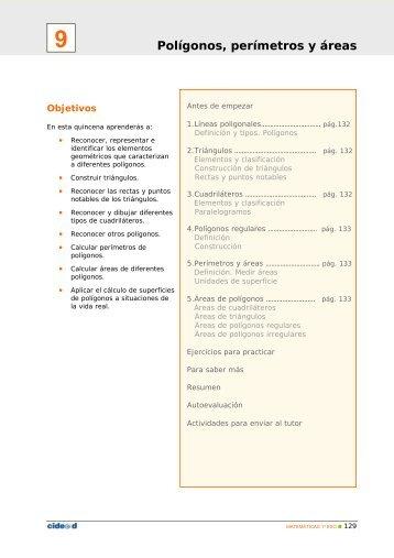 Polígonos, perímetros y áreas - Edu365.cat