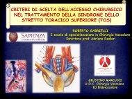 Tesi di Specializzazione - Dott. Roberto Gabrielli