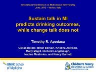 Sustain Talk - icmi 2012   International Conference on Motivational ...