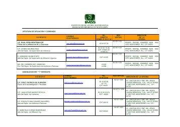 instituto mexicano del seguro social delegación regional en nuevo ...