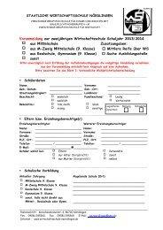 Download Anmeldeformular - Staatliche Wirtschaftsschule Nördlingen