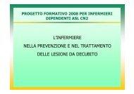 l'infermiere nella prevenzione e nel trattamento delle lesioni da ...