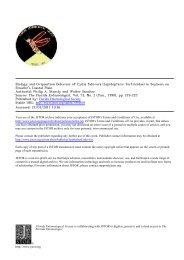 Biology and Oviposition Behavior of Cydia fabivora - Southwest ...