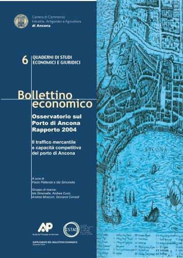 Osservatorio sul porto di Ancona – Rapporto 2004. Traffico - Istao
