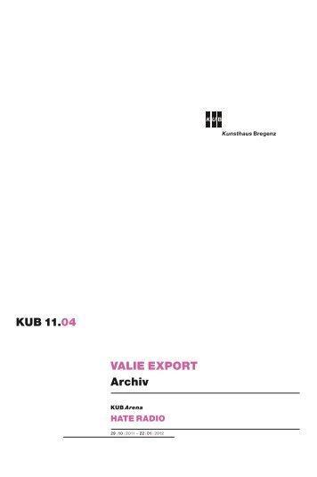 VALIE EXPORT Archiv KUB 11.04