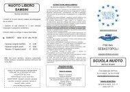 Volantino Sebastopoli Scuola Nuoto - Centro Nuoto Torino