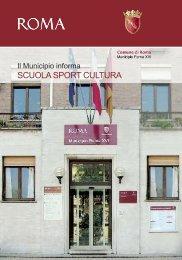 Scuola Sport cultura - Comune di Roma