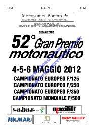 4-5-6 MAGGIO 2012 - Motorbootrennsport