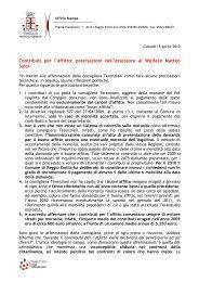 Contributi per l'affitto - Comune di Reggio Emilia