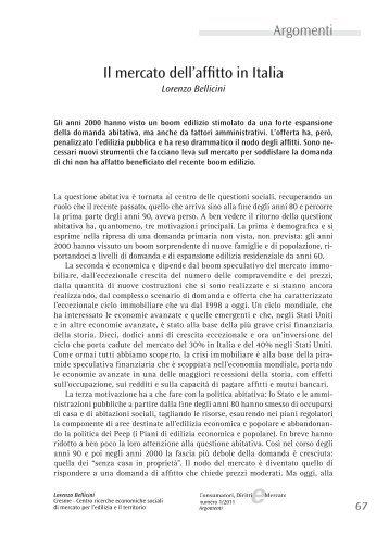 Il mercato dell'affitto in Italia - Altroconsumo