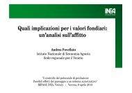Quali implicazioni per i valori fondiari: un'analisi sull'affitto - Inea
