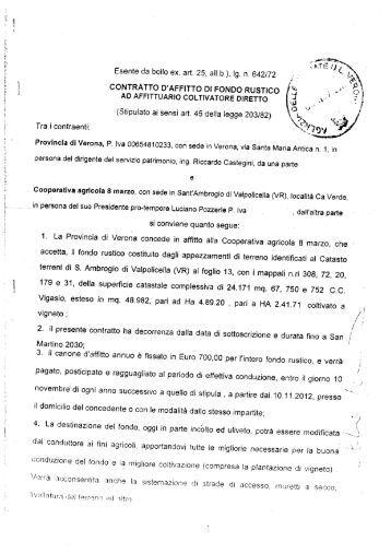 Modello contratto affitto per particelle agricole for Contratto di locazione