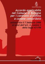Accordo applicabile nel Comune di Bologna per i contratti d'affitto a ...