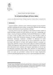 Per un'analisi morfologica del lessico italiano - Laboratorio di ...