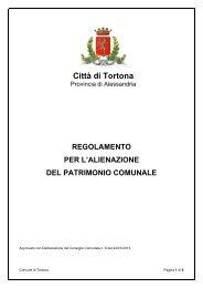 Regolamento per l'alienazione del patrimonio comunale