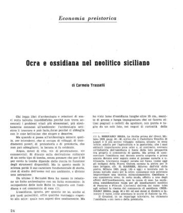 Ocra e ossidiana nel neolitico siciliano - Trapani Nostra