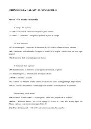 Cronologia dal XIV al XIX secolo - Blog del prof. Andrea Venturini