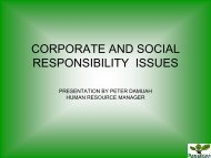 corporate and social responsibility issues - Yale School of Forestry ...