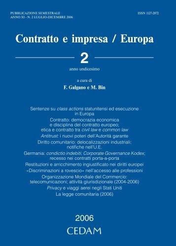 Contratto ImpresaEuropa - Cedam