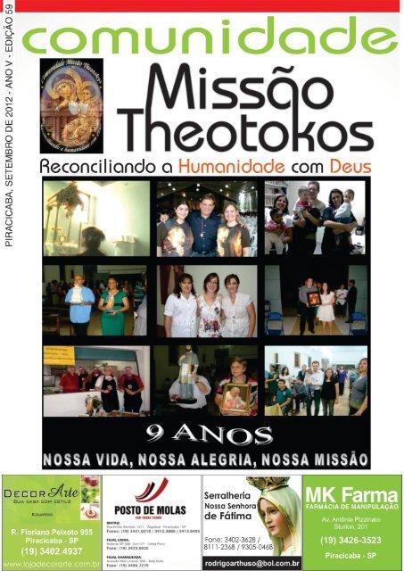 Mês de Setembro/2012 - Comunidade Missão Theotokos