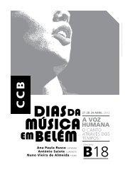 Ana Paula Russo soprano António Saiote clarinete Nuno Vieira de ...