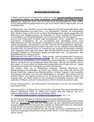 Der Proteinstoffwechsel - Dr. Kurt A. Moosburger